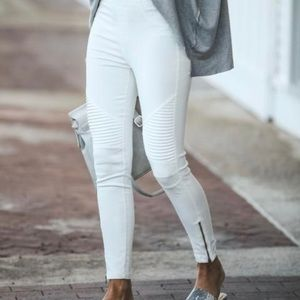 Moto Piper Jeggings VICI - White